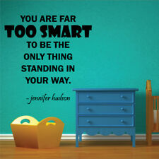 FAR TOO SMART quote wall sticker bedroom living room family wall decal