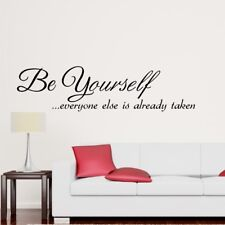 BE YOURSELF wall quote decals bedroom living room kids wall sticker