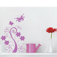 FLOWERS SWIRLS AND BUTTERFLIES wall stickers bedroom kids wall decals