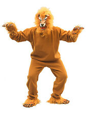 Adult Jungle Lion Animal Fancy Dress Costume & Mask Mens Ladies King Stag New