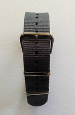 GREY - NATO/G10/MOD MILITARY STYLE NYLON WATCH STRAP - 14MM TO 24MM