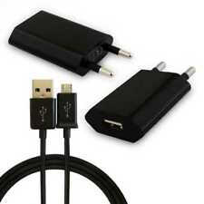 Cargador de red + Cable Micro USB negro para BlackBerry BB pared carga y datos