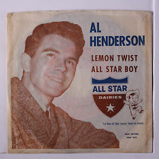 AL HENDERSON: Lemon Twist / All Star Boy 45 (rare PS) rare Oldies
