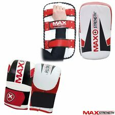Thai Kick Boxing Strike Curved Arm Pad MMA Focus Muay Punch Shield Mitt Gloves