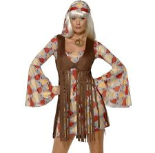 Donna 60s Anni 60 1960s Groovy Bambino Costume Travestimento by Smiffys Nuovo