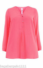NEW EVANS PINK CHIFFON TUNIC BLOUSE TOP SHIRT SUMMER PARTY PLUS SIZE 14 - 32