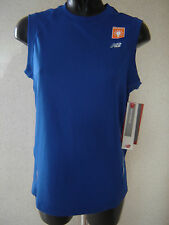 NEW BALANCE TEMPO MEN'S RUNNING SINGLET VEST TOP Size XS NEW