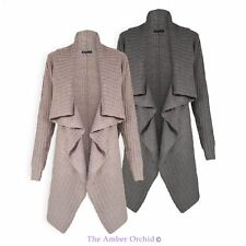 BRAVE SOUL LADIES WOMENS KNIT RIBBED CHUNKY KNITTED LONG SLEEVE OPEN CARDIGAN