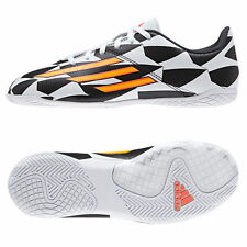 Adidas F5 World Cup Indoor Junior Black White Boys Kids Football Trainers Shoes