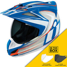 Icon Variant Raiden Glory Motorcycle Enduro Adventure Helmet | + FREE VISOR