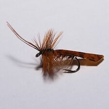6 SILVERHORN SEDGE Dry Fly Fishing flies Caddis  by Dragonflies