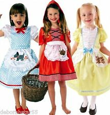 Girls Story Book Fairy Tale Costume Dorothy Red Riding Hood Goldilocks age 3-8