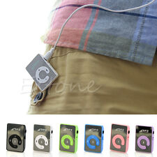 USB Digital Mini 7 Colors Support 8GB SD TF Card Mirror Clip Mp3 Music Player