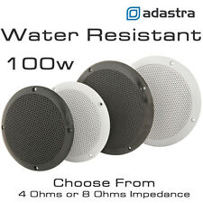 "6.5"" Pair White 2 Way Waterproof, Marine, Bathroom, Outdoor, Sauna, Spa Speakers"