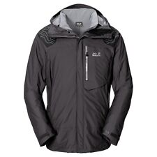 Jack Wolfskin Herren Doppel Jacke 3 in 1 Wanderjacke TREK`N ICE MEN dark steal