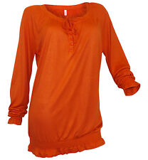 Sheego Shirt Tunika 40 42 44 46 48 50 orange Longshirt Smok langarm