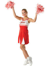 Adult Licensed Glee Cheerleader Fancy Dress Costume Ladies Womens Female 6-18 BN
