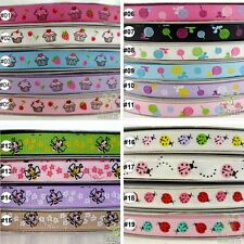 "5Yard 25Yard 100Yard Cake Bee Ladybug Cartoon Grosgrain Ribbon Craft 9mm(3/8"")"