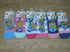 Ladies Officially Licensed Minions Character Socks. BNWT. UK size 4-8. (257)