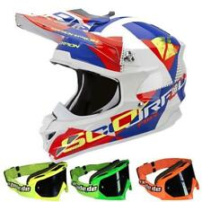Scorpion Casco Motocross VX-15 EVO AIR AKRA Blanco rojo-azul MX-2-Bude