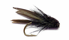 3x, 6x or 12x Fly Fishing Trout Flies (MM1) BLACK MINI MUDDLER Trout Fly