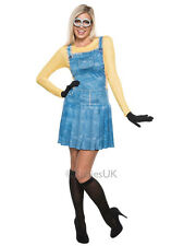Licensed Adult Despicable Me Minion Fancy Dress Costume Outfit Ladies Sizes 6-14
