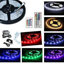 5M 5050 SMD LED Strip 30/60 LEDs  Lichterkette 12V RGB Controller Trafo Band