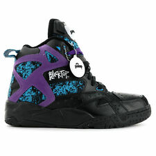 Reebok Classique Blacktop Battleground Pompe Retro Baskets Montants - Noir mauve