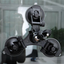 Single/ Triple Vacuum Suction Cup Mount Windshield Window Stand Holder For GoPro