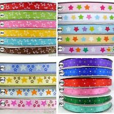 "2Yard 10Yard Star Satin Grosgrain Ribbon Craft 9mm16mm(3/8""5/8"") Gift Wrapping"