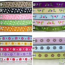 "2Yard 10Yard Flower Grosgrain Ribbon Craft 9mm16mm(3/8""5/8"") Gift Wrapping Craft"