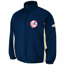 New York Yankees Majestic Cooperstown Double Climate Jacket - Navy Blue - MLB