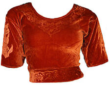 Caramel Velours Top Choli pour Sari Style Bollywood Taille S à 3XL