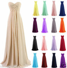 Simple Long Chiffon Formal Wedding Party Ball Gowns Prom Bridesmaid Dresses 6-18