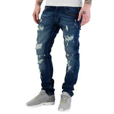 Just Rhyse Destroyed Straight Fit Jeans Blue Herren Hose Style Fashion