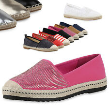 Damen Espadrilles Bast Slipper Metallic Beach Schuhe 79371 Top