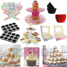 Cup Cupcake Stand Display Muffin Storage Holder Box Baking Cases Mould Tray Book
