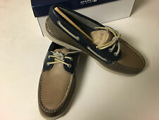 NIB Mens Sperry Two Tone Lace-up Leather Boat Shoes Size 8.5, 10, 11, 11.5 Brown