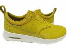 Nike Air Max Thea Premium Leather Dark Citron Sail Womens Trainers 616723 303