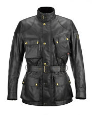 Belstaff Official Classic Tourist Trophy Motorcycle Motorbike Jacket Black