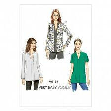 Vogue Ladies Easy Sewing Pattern 9151 Loose Fitting Tunic Tops (Vogue-9151-M)