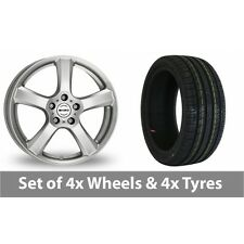 """4 x 17"""" Enzo Silver Alloy Wheel Rims and Tyres -  215/40/17"""