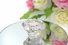 PACKS OF SMALL SIZED ROSE GLASS TEA LIGHT CANDLE HOLDERS DECORATIONS WEDDING