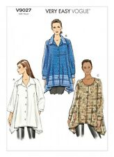 Vogue Ladies Easy Sewing Pattern 9027 Loose Fit Tunic Shirt Tops (Vogue-9027-M)