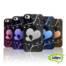 Hearts in Bloom Patterned Phone Case Hard Back Snap on Apple iPhone 4 Cover