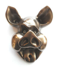 Bottle Opener ~ Wall Mounted ~ PIG Design ~ Silver or Bronze ~ Beer Buddies