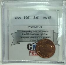 1961 Canadian One Cent Coin Mart Graded MS-65