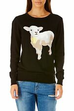 Sugarhill Boutique Women's Black Spring Lamb Sweater Jumper