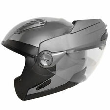 Hawk Gun Metal Modular Flip Up Dual Visor Full Face Motorcycle Helmet (XS-XXL)