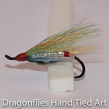 Silver Doctor Salmon Fly Fishing  Flies single hook by Dragonflies